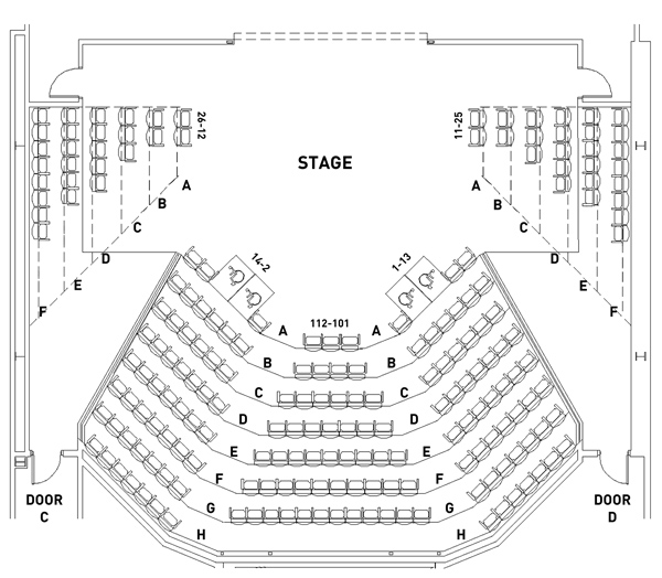 Stage Two Seating Map